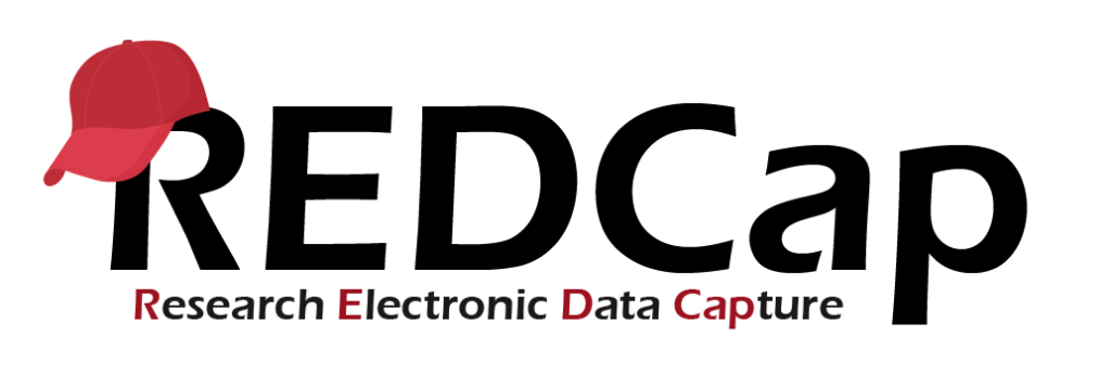 The logo for REDCap Research Electronic Data Capture tool includes those words with a red baseball hat perched on the R.