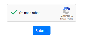 "A screenshot shows a checkmark next to the saying ""I'm not a robot"" and the reCAPTCHA logo."